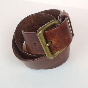 Express Genuine Leather Belt, Dark Brown